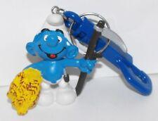 Farmer Smurf 2 inch Plastic Figurine Key Chain 20145