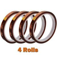 4rolls 10mm X 30m(100ft) High Temperature Heat Resistant Tape Sublimation Press