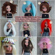 6-7 Doll hair Wig Repaint Custom Hair BJD Dollfie Boneka Patsy Minifee miniMaru