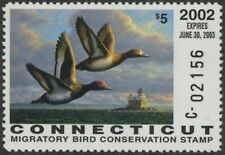 2002 Connecticut State Duck Stamp Mint Never Hinged Vf