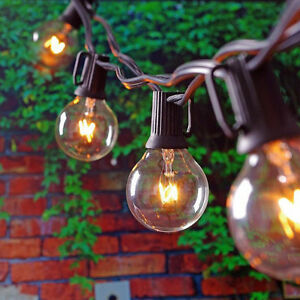 Outdoor Globe Patio String Lights Warm white 25  Bulbs G40 for Wedding Party