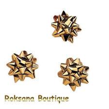 Lot 10 étoiles Bolduc adhésives métallisées OR Ø 35 mm cadeaux emballage