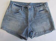 NWOT Levis Jeans for Women Cutoff Short Shorts Light Wash Size 30
