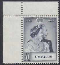 CYPRUS 1948 ISSUE 1 POUND UNUSED STAMP SCOTT 159 = SG.167