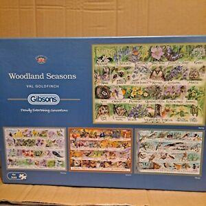 Gibson's 4 x 500 piece jigsaw 'Woodland Seasons' Complete and VGC
