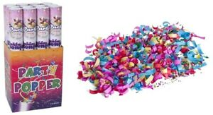 Bulk 12 x Large Party Poppers Confetti Cannon Poppers Shoots up to 10 Meters
