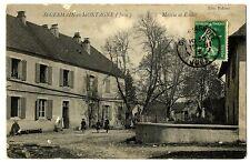 CPA 39 Jura Saint-Germain-en-Montagne Mairie et Ecoles animé
