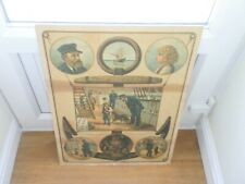 ANTIQUE STOWAWAY PICTURE SAILING SHIP PRINT