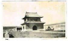 OLD CHINA / CHINESE PHOTO PEKING / BEIJING CITY WALL & GATE VINTAGE C.1920  (75)