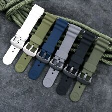 Silicone Watch Band for Seiko Prospex Waterproof Diving Sport Strap Black Buckle