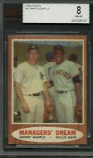 1962 Topps #18 Mickey Mantle Willie Mays BVG 8 NM-MT Managers' Dream HOF Yankees