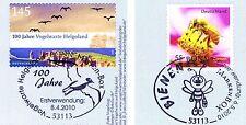BRD 2010: Helgoland und Biene! Selbstklebende Marken Nr. 2793+2799 Stempel Bonn!