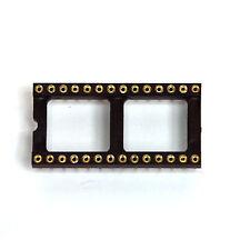 "10x DIP IC Socket 2x14P 2x14 28P Screw Machine Round hole 2.54x15.24mm 0.1""x0.6"""
