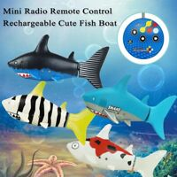 Mini Radio Remote Control Rechargeable Cute Fish Boat RC Electric Toy Gift