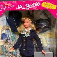 Mattel Japan Airlines JAL Uniform Barbie doll nice flight attendant F/S Used