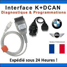 INTERFACE CABLE K+DCAN K+CAN OBD OBD2 BMW & MINI SCANNER INPA OUTIL DIAGNOSTIQUE