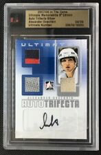 2007-08 ITG ULTIMATE Auto Trifecta Jersey / Patch / Stick Alex Ovechkin 04/09 !!