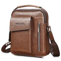 Men's Leather Handbag Messenger Bag Cross-body Tote Briefcase Shoulder Satchel