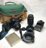 Minolta Dynax 7Xi 35mm SLR with 2 Minolta Lenses Zoom 28-80mm,70-210mm ,Great ++