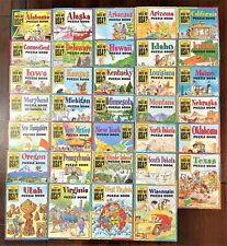 (34) Highlights Which Way Usa? Puzzle Books w/ Maps and *Bonus Stickers*