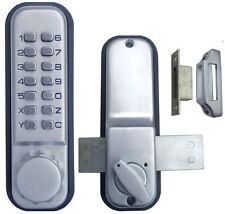 Mechanical Weatherproof Pushbutton Password Code Glass Door Lock No Battery