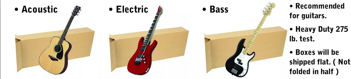 Guitar Shipping Boxes and More