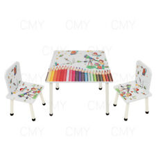 NEW Style Childrens Wooden Table and Chair set Kids Toddlers Childs UK