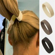 Bandas elásticas de silicona de Pelo Corbata Cola de Caballo soporte de Ancho Plegable estacionalidad de mujer