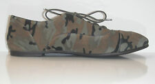 New Lucky Brand Women Davie Camouflage Leather/ Suede Flats Oxfords Shoe sz 7.5M