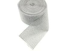 9 Yard 24 Lines Diamante Effect, Rhinestone Mesh Ribbon Sliver Trim Bridal Craft