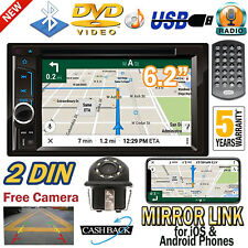 For Subaru Forester Legacy 2 Din Car Stereo DVD CD Player Radio BT &Rear Camera