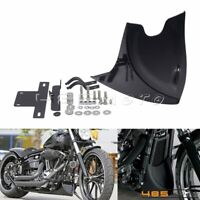 Front Chin Spoiler Lower Chin Air Dam Fairing Mudguard Cover For Harley Softail