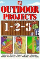 Outdoor Projects 1-2-3 Home Depot Staff - 1998, Hardcover Decks Patio Fences +++