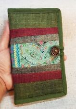 New Hmong Hemp Wallet Clutch Tribe Vintage Unique Green Patchwork Bags Handbags