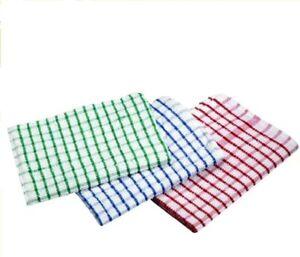 Tea Towels 3Pack Premium Quality 100% Cotton Bar Catering Kitchen Restaurant
