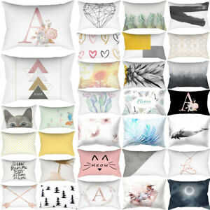 30*50cm Rectangle Pillow Case Cushion Cover Bed Car Waist Throw PillowCase Decor