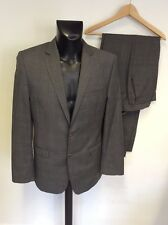 FRENCH CONNECTION GREY CHECK WOOL BLEND SUIT SIZE 40L/34W/ 34L