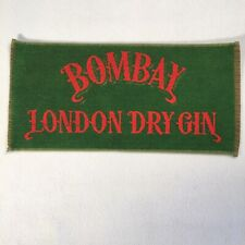 "Vintage Bar Towel Bombay London Dry Gin 17""x8"" Breweriana Decor"