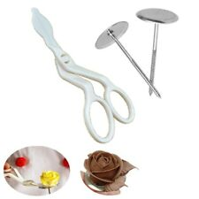 3 pcs Icing Cream Nails + Piping Flower Scissors Fondant Cake Decoration Tools