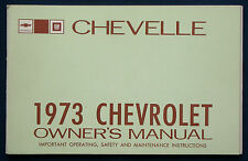 Owner's manual * Manuel 1973 Chevrolet Chevy Chevelle (USA)