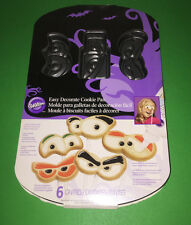 Wilton Halloween Cookie Pan Monster Eyes 6 Cavities New