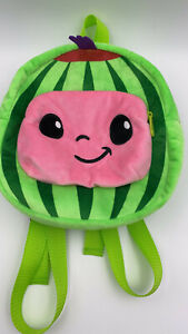 Cocomelon inspired Plush School Bag/Lunch Bag/Toy Bag/Backpack, Handmade