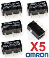 Micro Interruptor OMRON D2FC-F-7N (20M) - Reparacion Ratones - Pack 5 Unidades