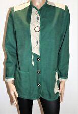 Crachten Mode Brand Traditional Classic Linen Jacket Size S LIKE NEW  #AN02