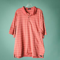 Peter Millar XL Shirt Polo Short Sleeve Collar Pink Stripe Cotton Casual