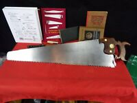 "R. Groves & Sons 3 1/2 PPI Rip Cut Hand Saw, 28"", Sharpened & Tuned, 1890, 1123"