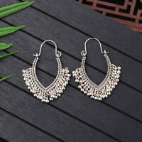 Vintage Bohemian Boho Tassel Beads Heart-shaped Ear Drop Ethnic Retro Earrings