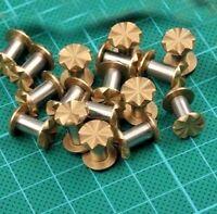 2 pcs Brass Carved Knife Handle Screw Rivet, DIY Knife Making Rivets