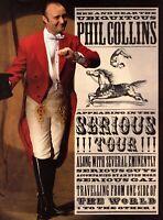 PHIL COLLINS 1990 SERIOUS TOUR CONCERT PROGRAM BOOK BOOKLET-NEAR MINT TO MINT
