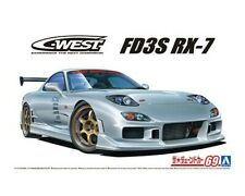 """""""NEW"""" Aoshima 1/24 C-WEST FD3S RX-7 '99 Mazda Modified car Ver from Japan"""
